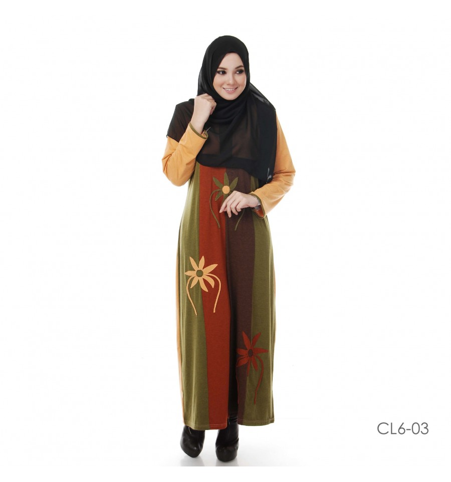 JUBAH COTTON BAMBOO LILLY CL6-03
