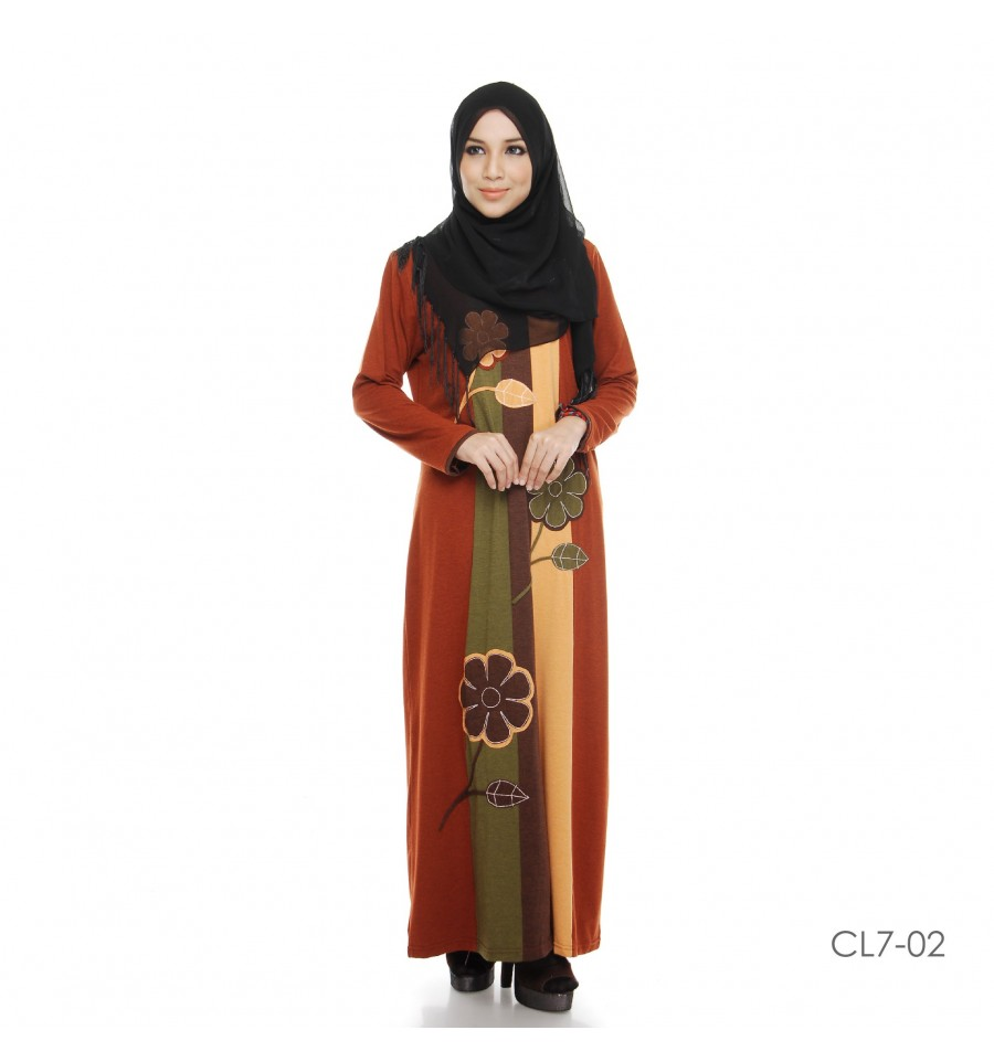 JUBAH COTTON BAMBOO LILLY CL7-02