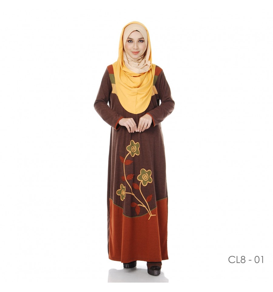 JUBAH COTTON BAMBOO LILLY CL8-01