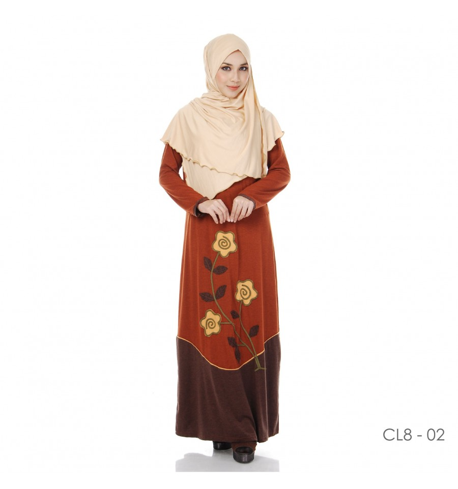 JUBAH COTTON BAMBOO LILLY CL8-02