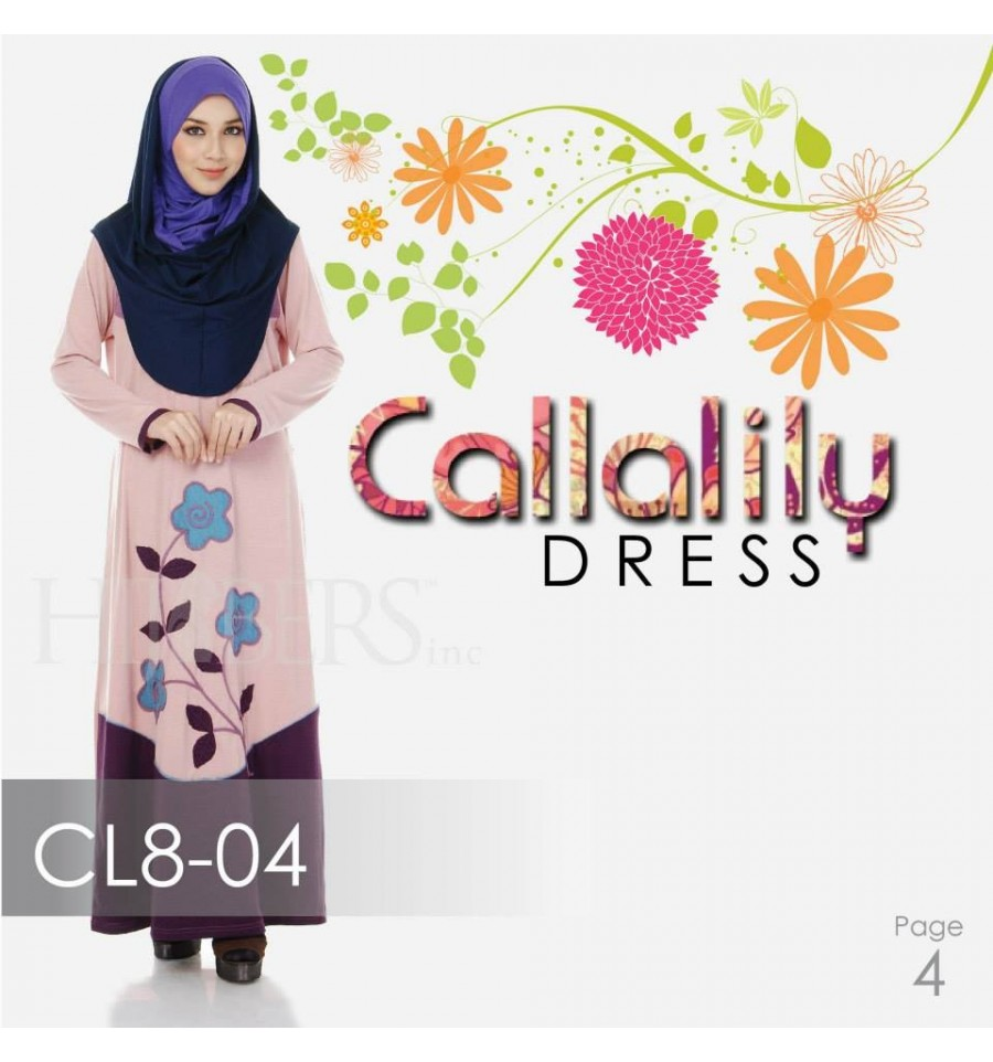 JUBAH COTTON BAMBOO LILLY CL8-04