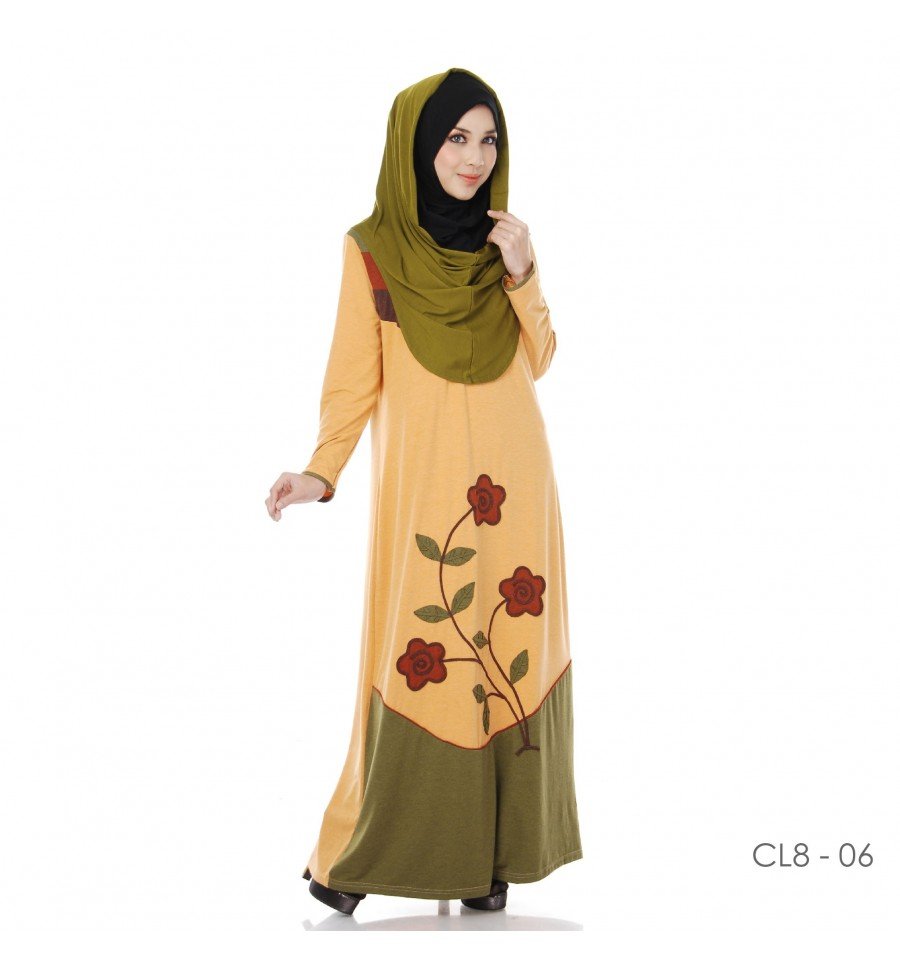 JUBAH COTTON BAMBOO LILLY CL8-06