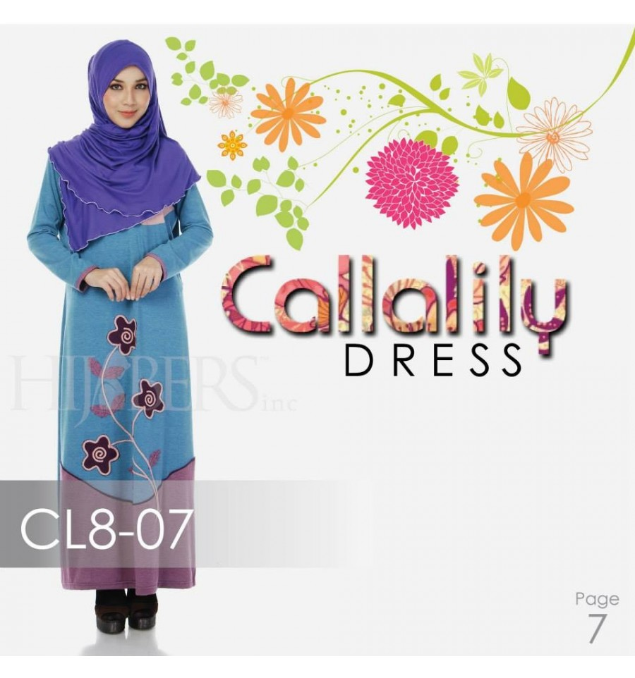 JUBAH COTTON BAMBOO LILLY CL8-07