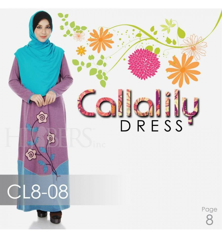 JUBAH COTTON BAMBOO LILLY CL8-08