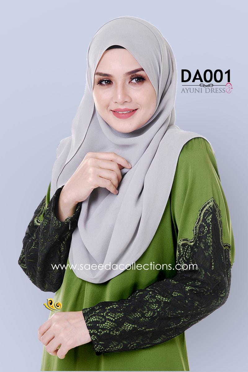 JUBAH RAYA DRESS SILK AYUNI DA001 BB