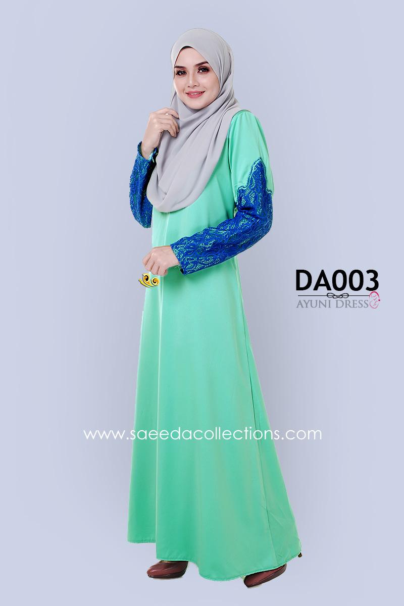 JUBAH RAYA DRESS SILK AYUNI DA003 AA