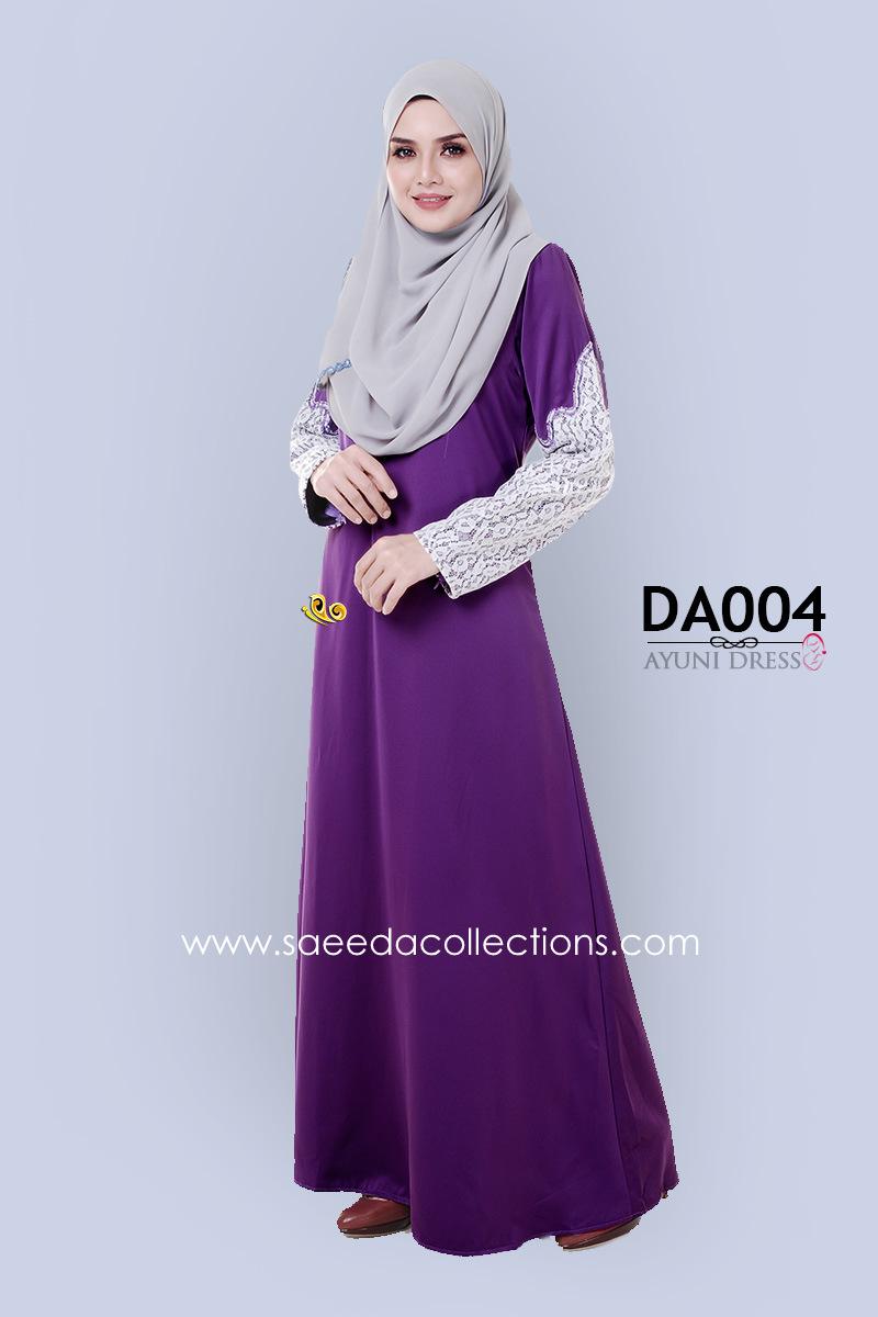 JUBAH RAYA DRESS SILK AYUNI DA004 AA