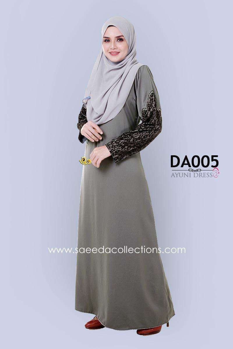 JUBAH RAYA DRESS SILK AYUNI DA005 AA