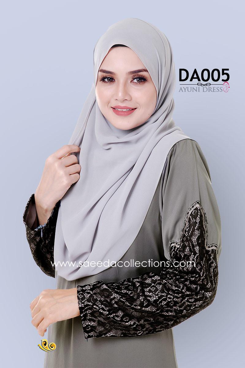 JUBAH RAYA DRESS SILK AYUNI DA005 BB