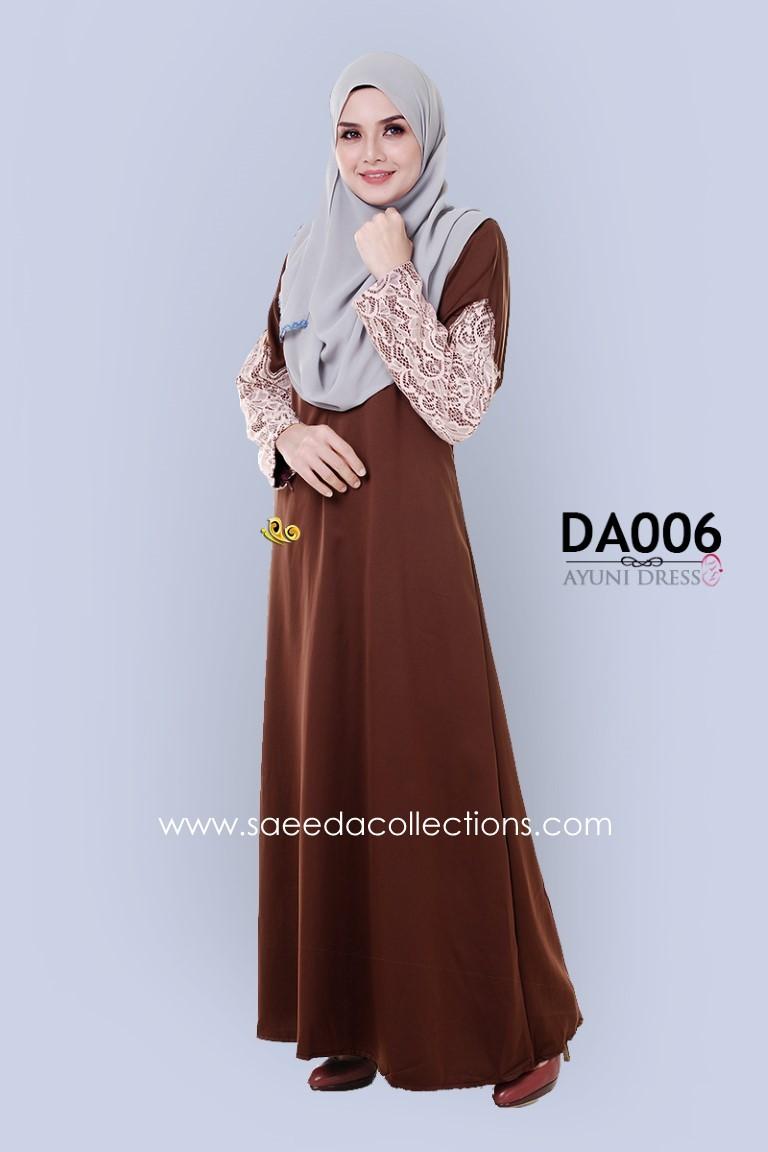 JUBAH RAYA DRESS SILK AYUNI DA006 AA