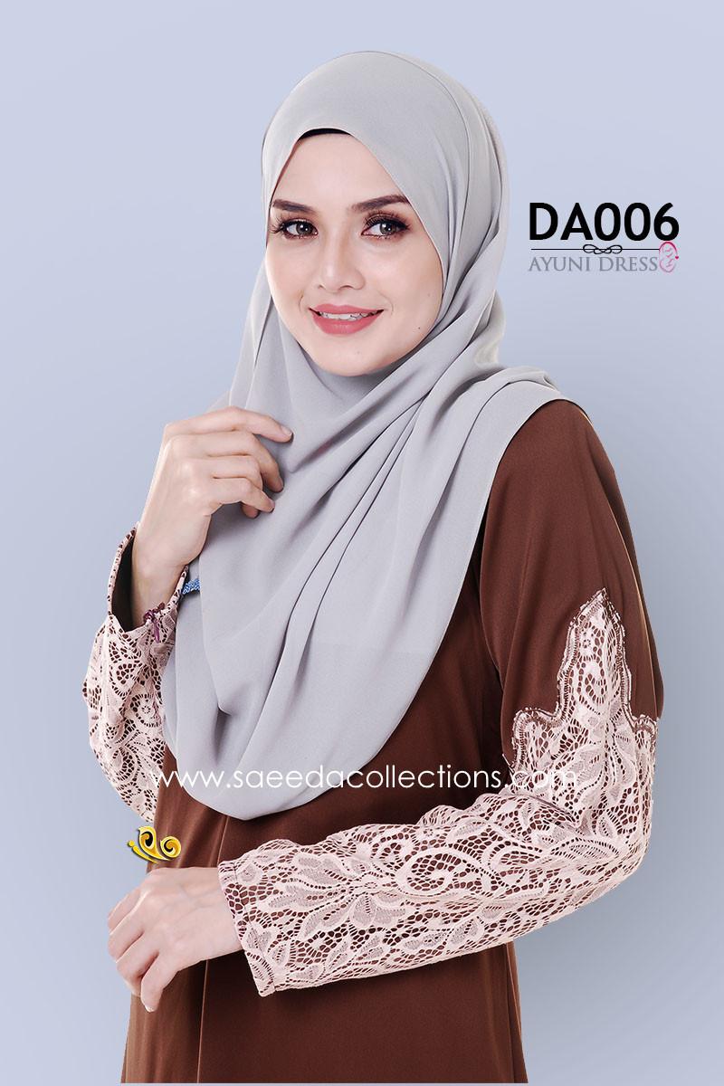 JUBAH RAYA DRESS SILK AYUNI DA006 BB