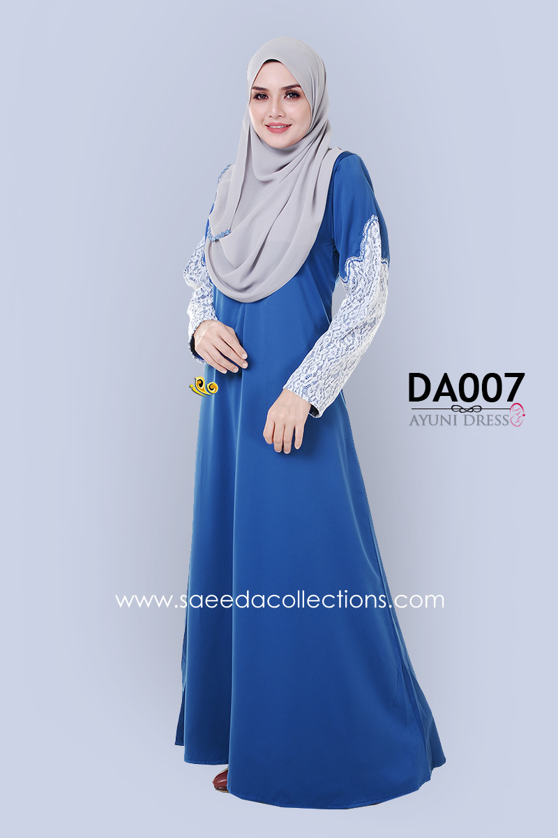 JUBAH RAYA DRESS SILK AYUNI DA007 AA