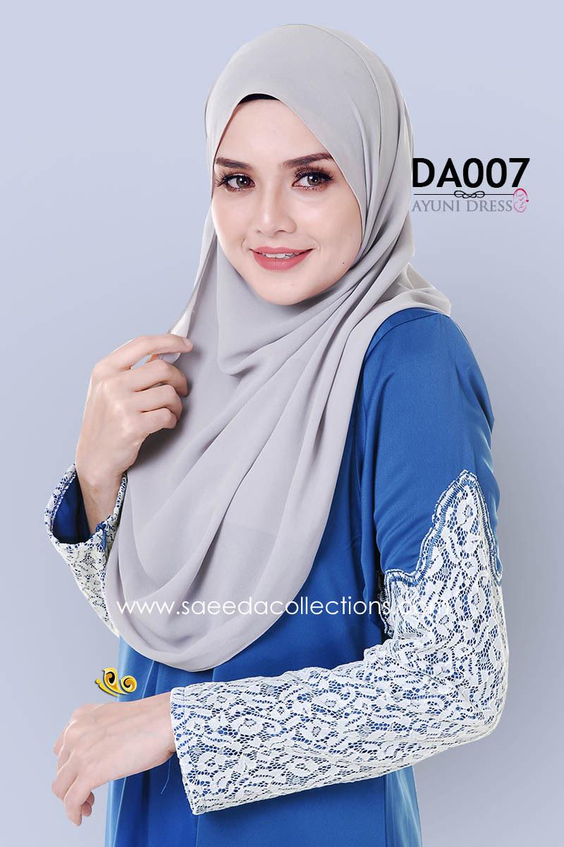 JUBAH RAYA DRESS SILK AYUNI DA007 BB