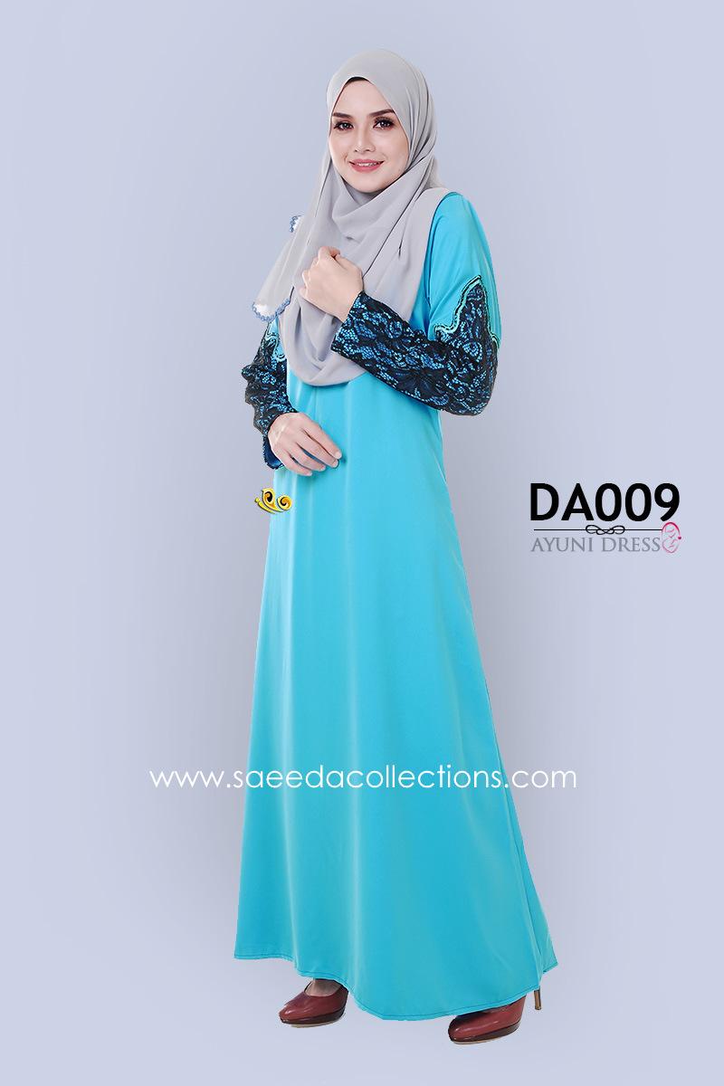 JUBAH RAYA DRESS SILK AYUNI DA009 AA