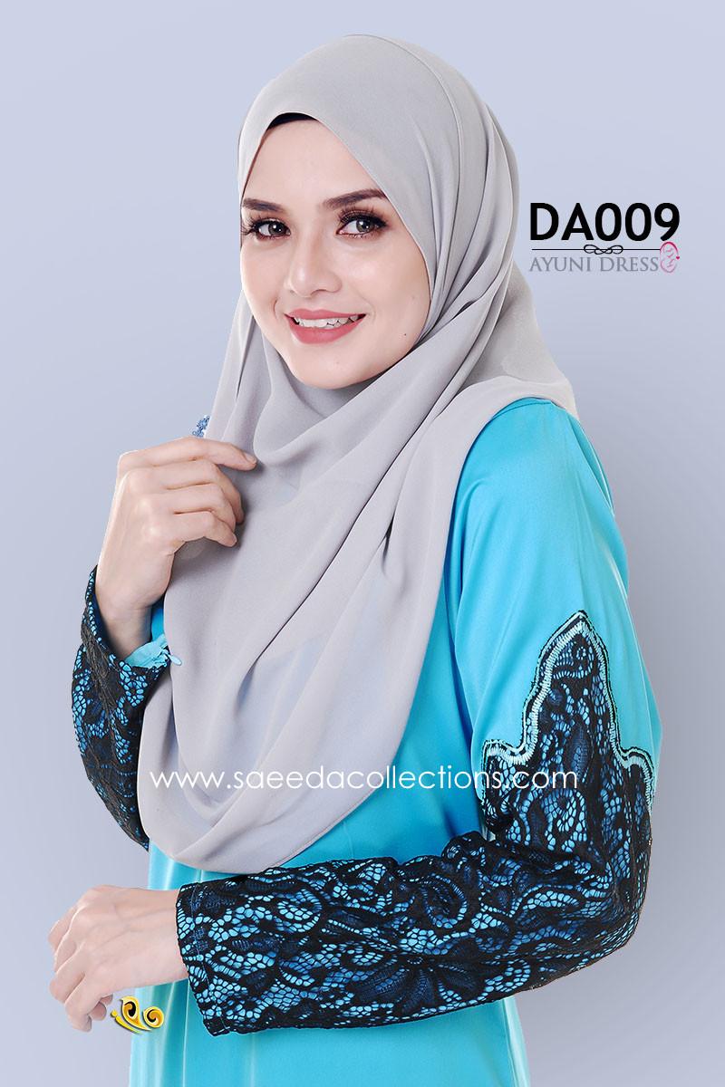 JUBAH RAYA DRESS SILK AYUNI DA009 BB