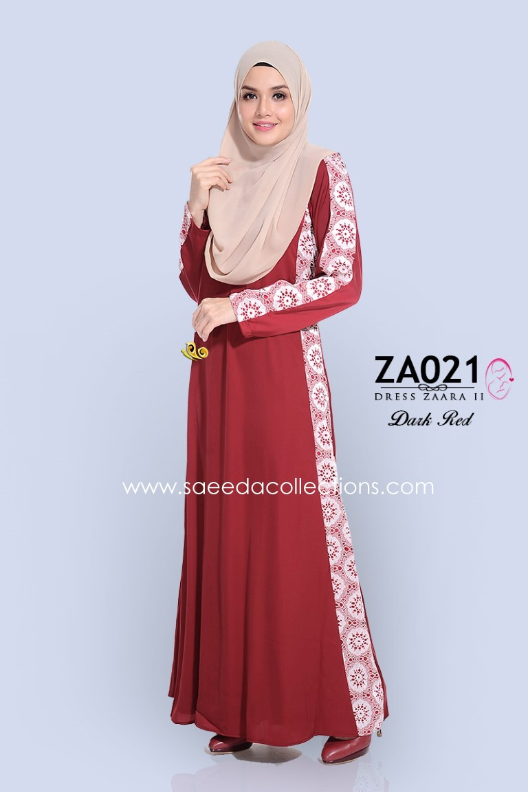 DRESS SATIN RAYA NURSING FRIENDLY ZARA ZA021 AA