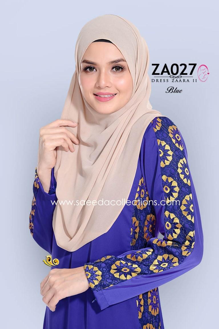 DRESS SATIN RAYA NURSING FRIENDLY ZARA ZA027