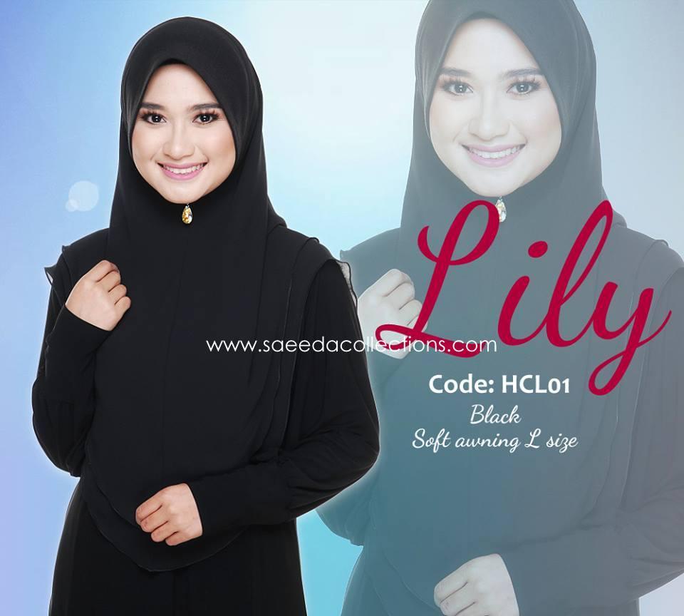 TUDUNG LYCRA CHIFFON RAYA 2015 LILY SAIZ L HCL01