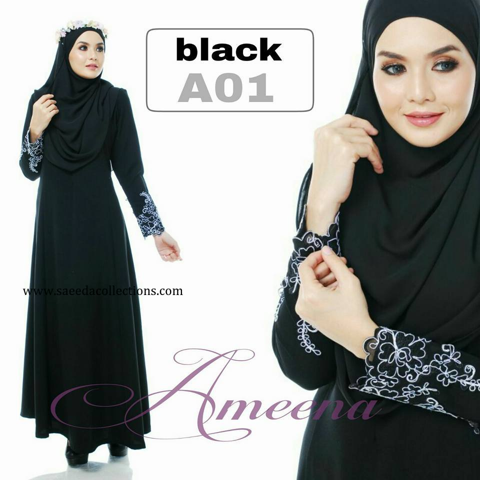 DRESS JUBAH AMEENA POLYCREPE A01