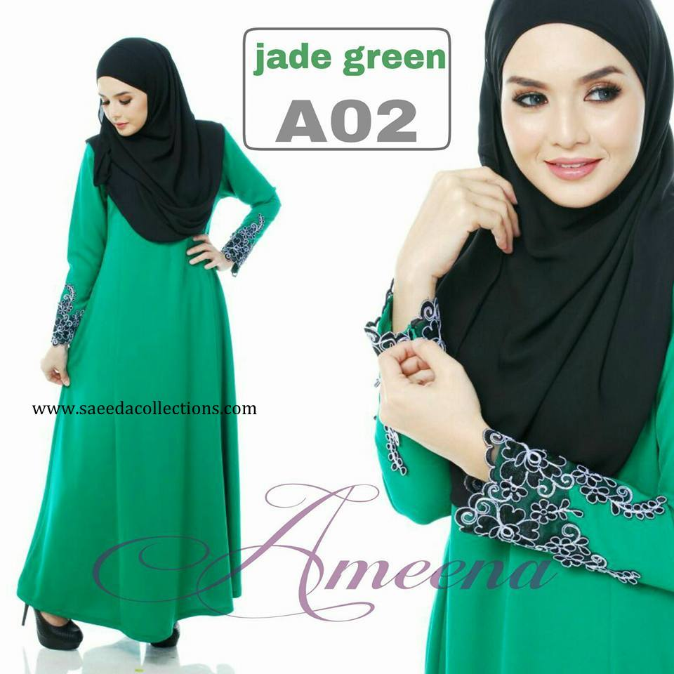 DRESS JUBAH AMEENA POLYCREPE A02