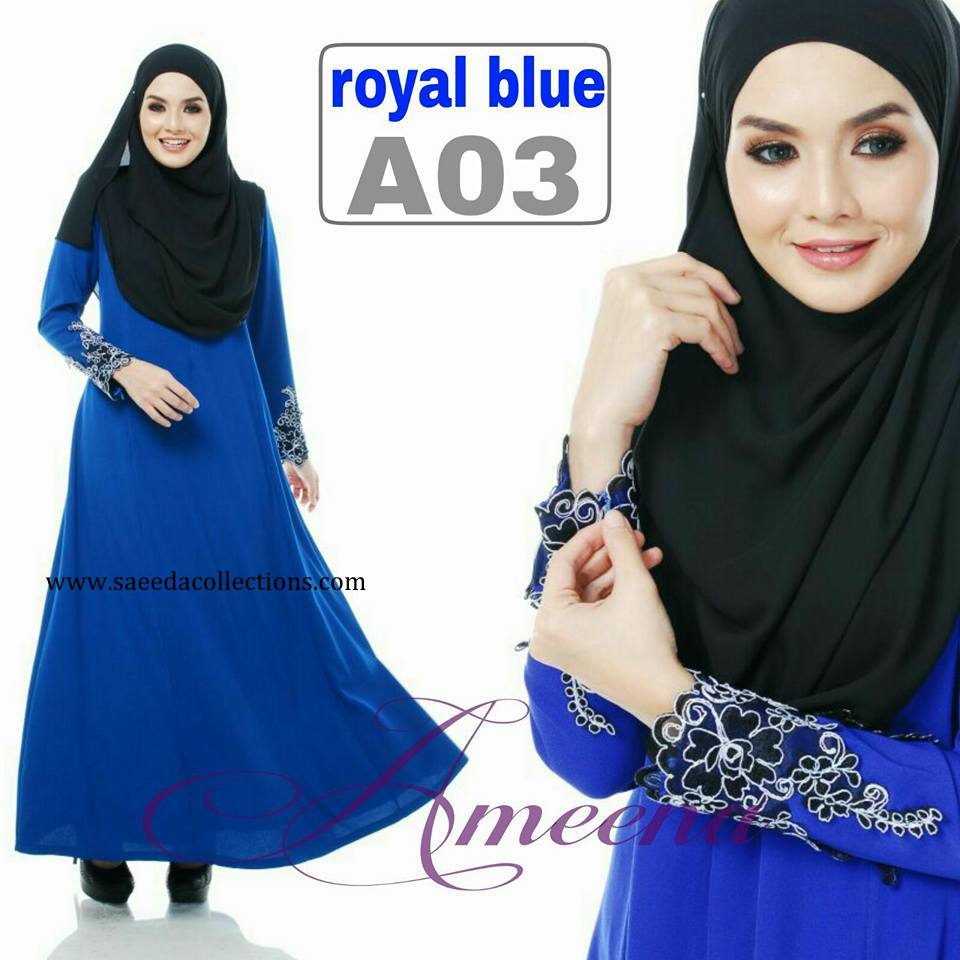 DRESS JUBAH AMEENA POLYCREPE A03