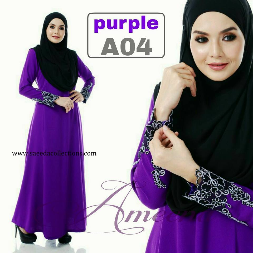 DRESS JUBAH AMEENA POLYCREPE A04