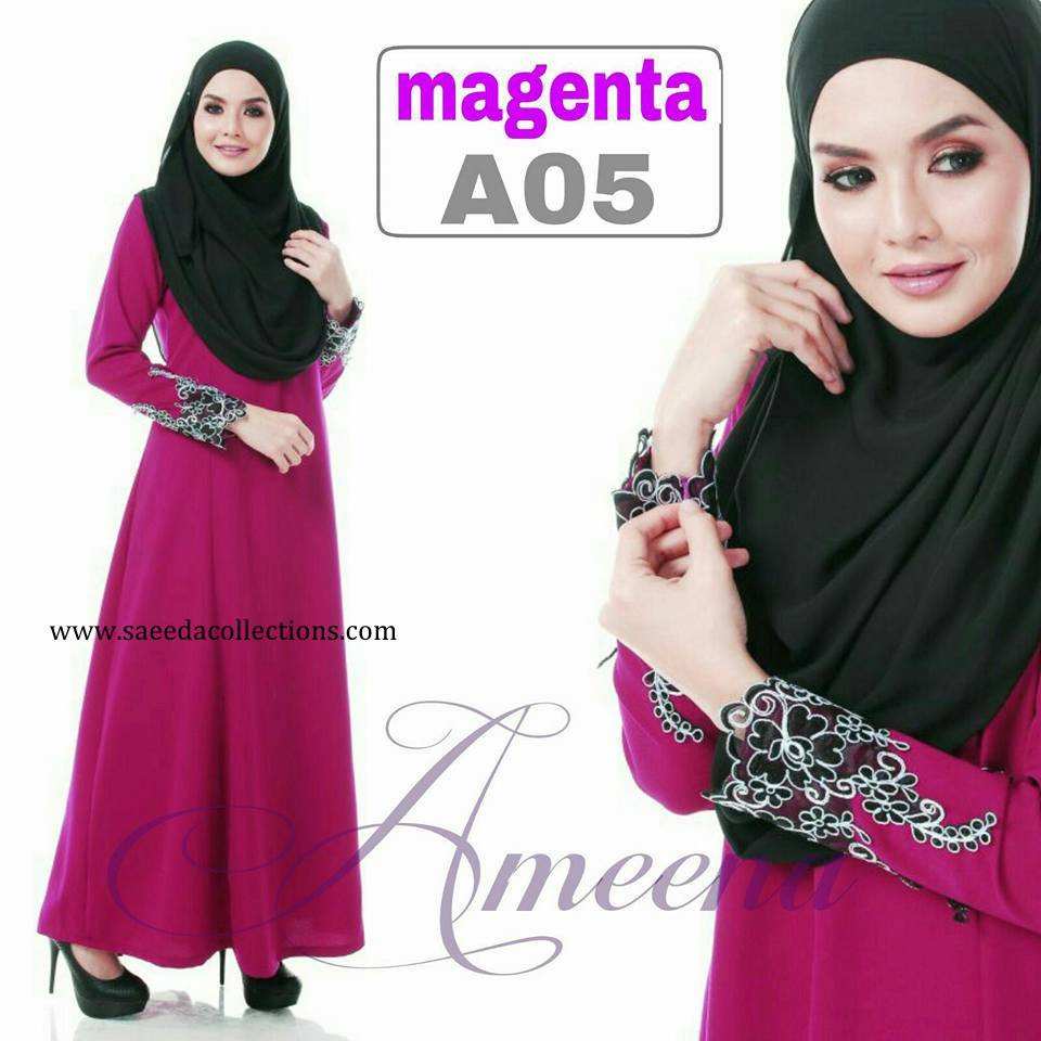 DRESS JUBAH AMEENA POLYCREPE A05