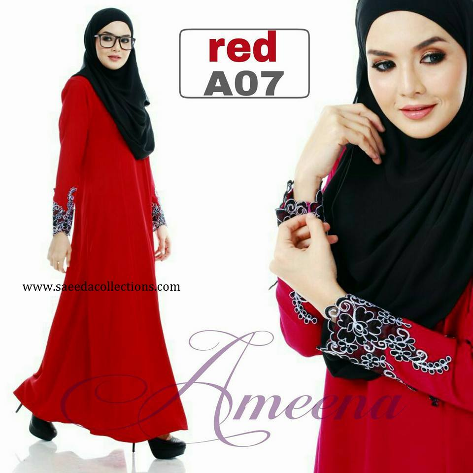 DRESS JUBAH AMEENA POLYCREPE A07