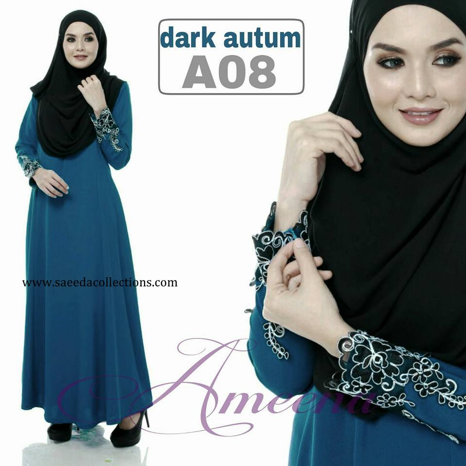 DRESS JUBAH AMEENA POLYCREPE A08