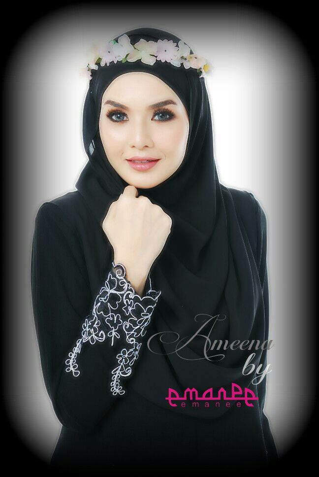 DRESS JUBAH AMEENA POLYCREPE POSTER 2