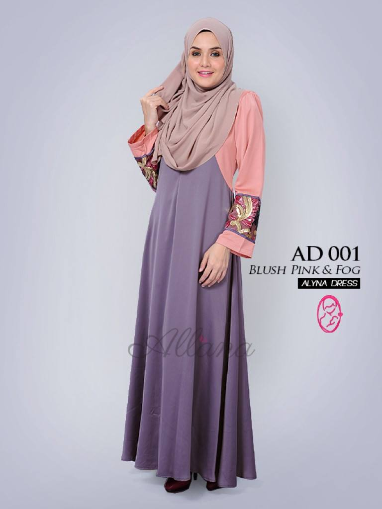 DRESS JUBAH SATIN ALYNA KOD AD001