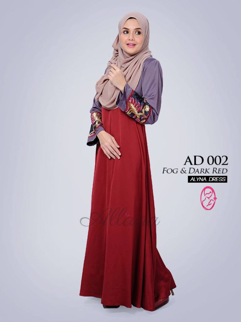 DRESS JUBAH SATIN ALYNA KOD AD002