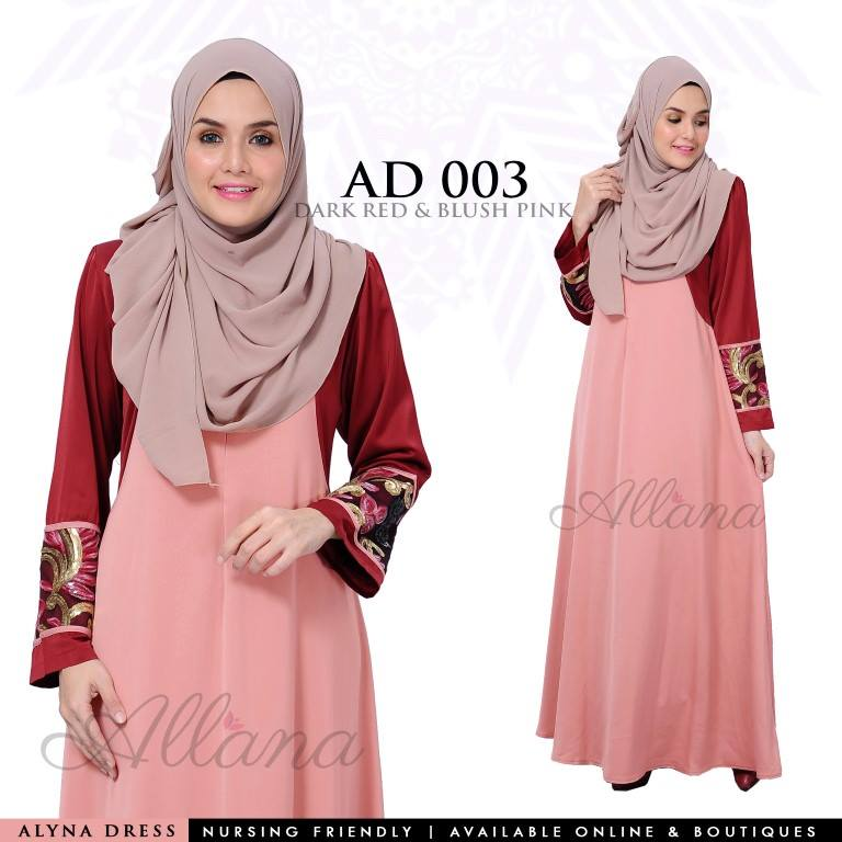 DRESS JUBAH SATIN ALYNA KOD AD003 AA