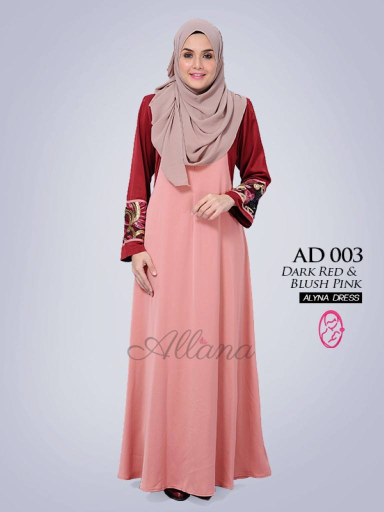 DRESS JUBAH SATIN ALYNA KOD AD003