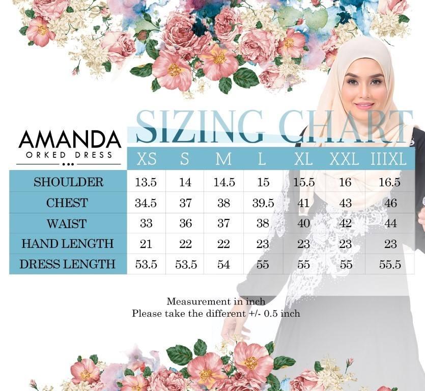 DRESS AMANDA UKURAN 1