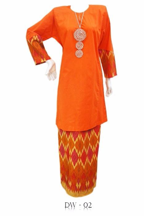 Baju Kurung Pahang cotton bercorak songket tribal - koleksi Dania ...