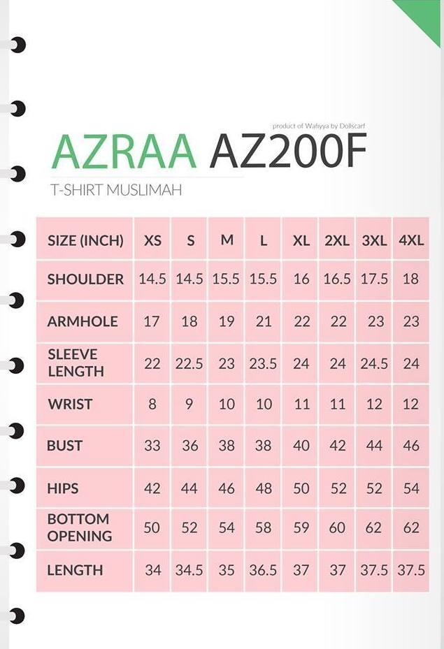 UKURAN AZRAA AZ300