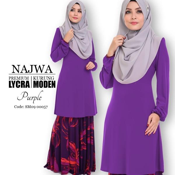 Baju Kurung Moden Lycra Najwa Kod Sm09 00057 Saeeda