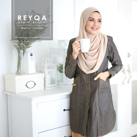 DENIM BLOUSE REYQA GREY 1