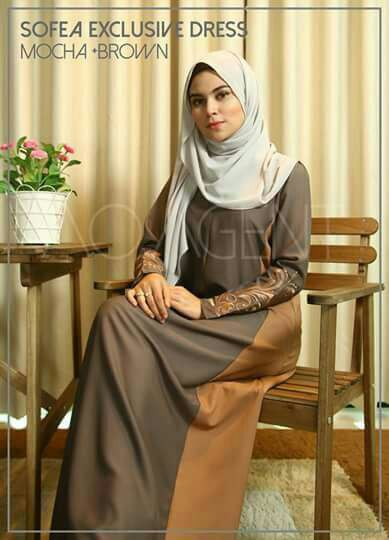 DRESS CREPE SOFEA MOCCA BROWN