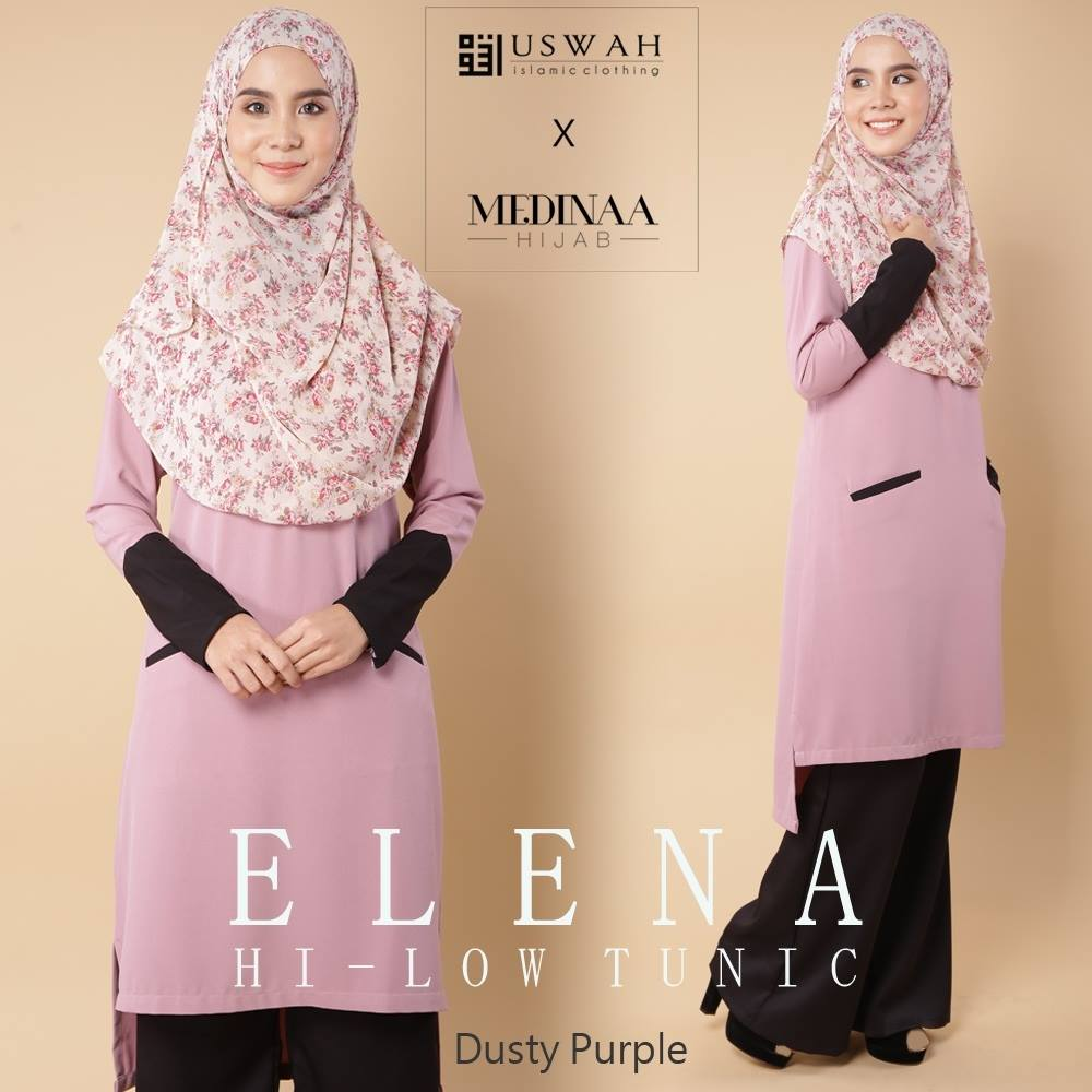 ELENA HI LOW TUNIC DUSTY PURPLE