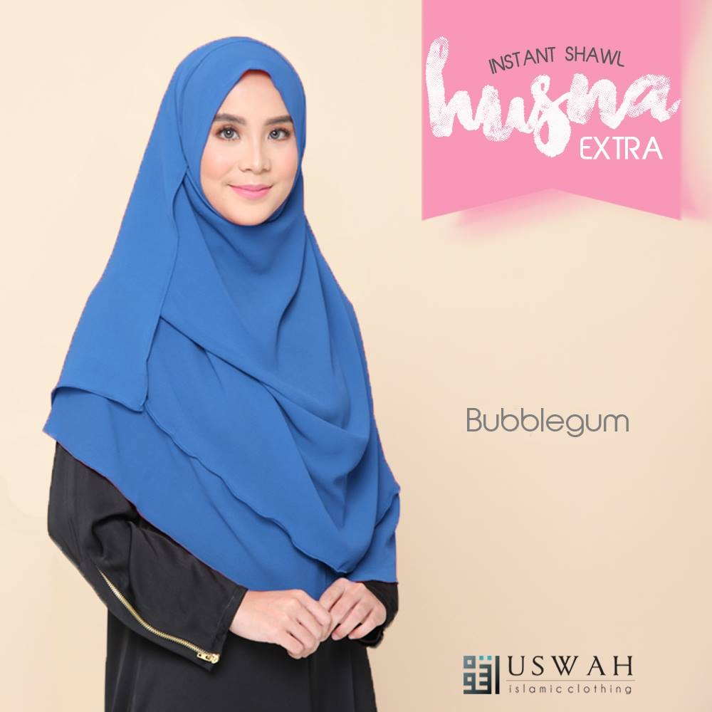 INSTANT SHAWL HUSNA EXTRA BUBBLE GUM
