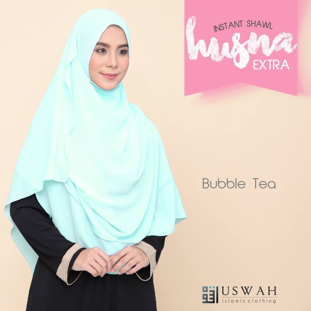 INSTANT SHAWL HUSNA EXTRA BUBBLE TEA