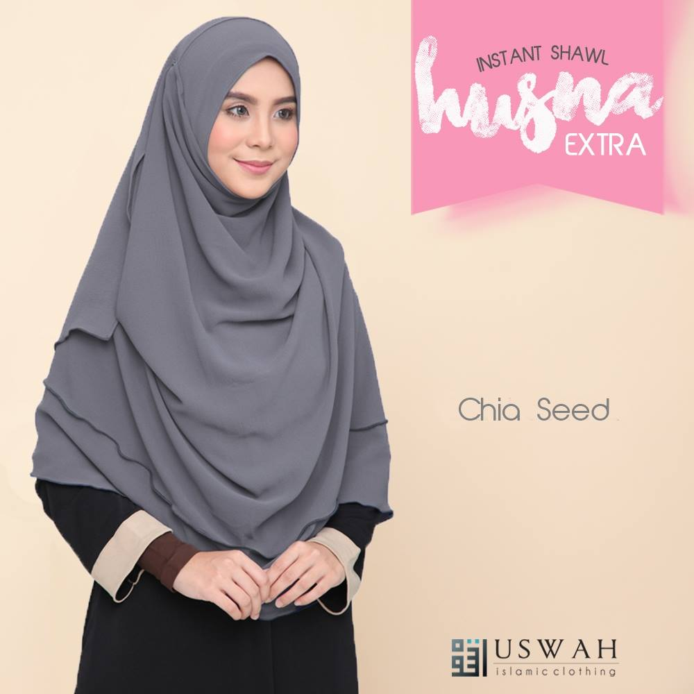 INSTANT SHAWL HUSNA EXTRA CHIA SEED