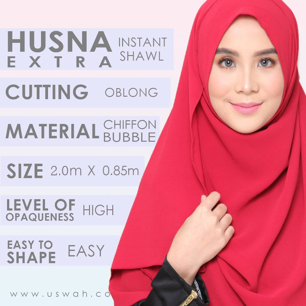INSTANT SHAWL HUSNA EXTRA DESCRIPTION