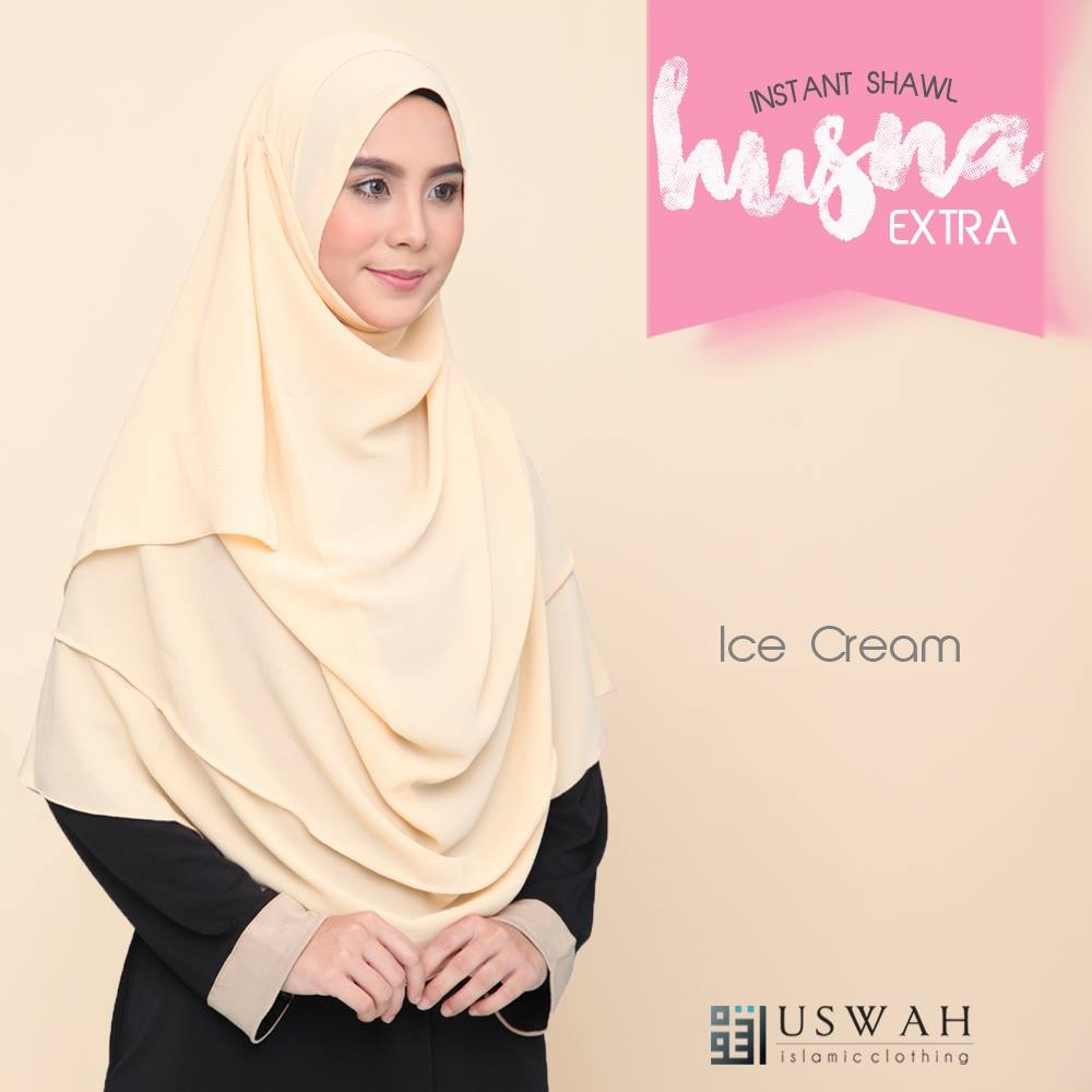 INSTANT SHAWL HUSNA EXTRA ICE CREAM