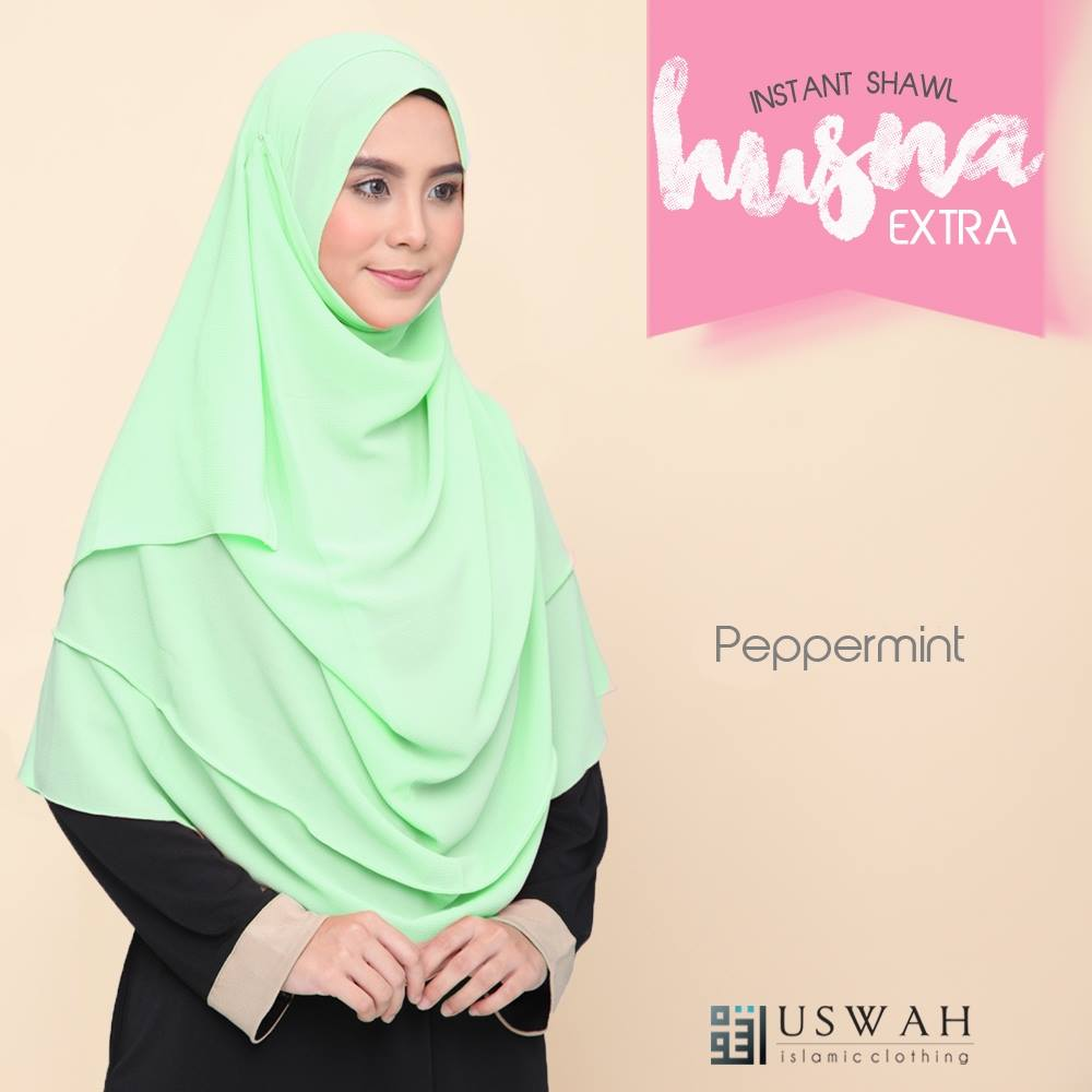 INSTANT SHAWL HUSNA EXTRA PEPPERMINT