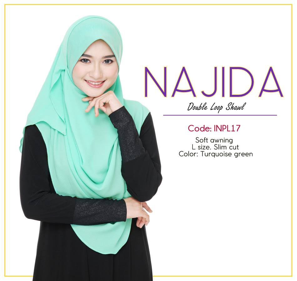 SHAWL DOUBLE LOOP CHIFFON NAJIDA INPL17