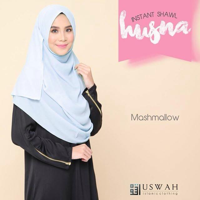 SHAWL HUSNA BIASA MARSHMALLOW