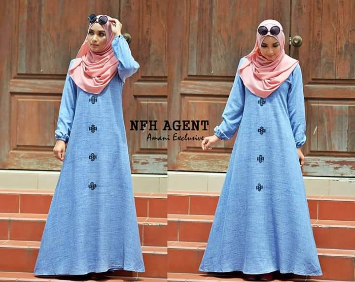 DRESS KAMILA NAVY BLUE